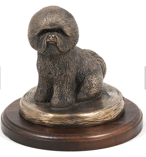 Bichon Statue on Timber Base