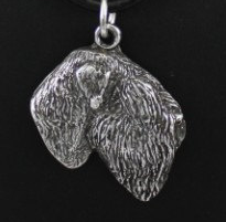 Black Russian Silver Plated Pendant