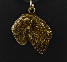 Black Russian Terrier Hard Gold Plated Pendant