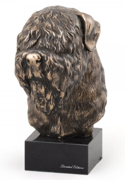 Black Russian Terrier Statue Marble Base