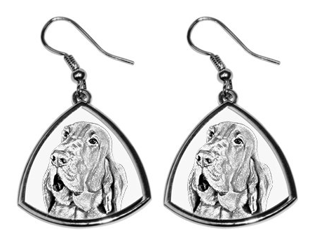 Bloodhound Silver Plated Earrings
