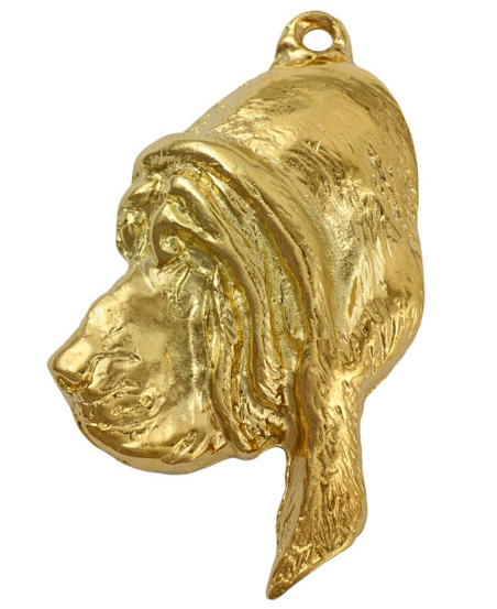 Bloodhound Hard Gold Plated Pendant