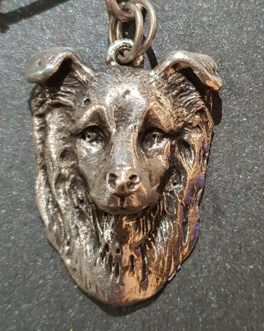 Border Collie Silver Plated Pendant