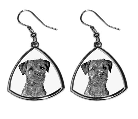 Border Terrier Silver Plated Earrings