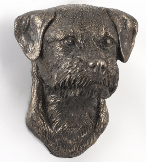 Border Terrier Wall Hung Statue