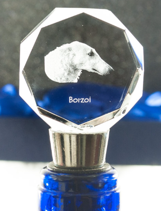 Borzoi Crystal Wine Stopper
