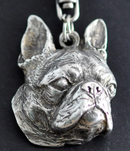 Boston Terrier Silver Plated Key Chain