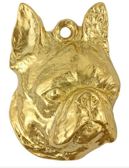 Boston Terrier hard Gold Plated Key Chain