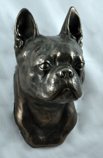 Boston Terrier Wall Hung Statue
