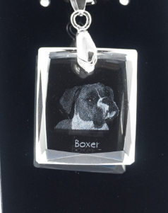 Boxer Crystal Pendant