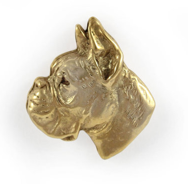 Boxer Hard Gold Plated Lapel Pin