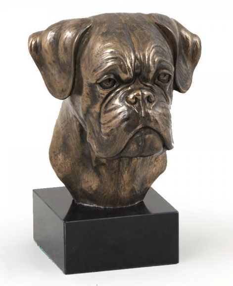 Boxer Statue Marble Base