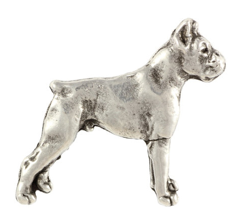 Boxer Silver Plated Full Body Lapel Pin