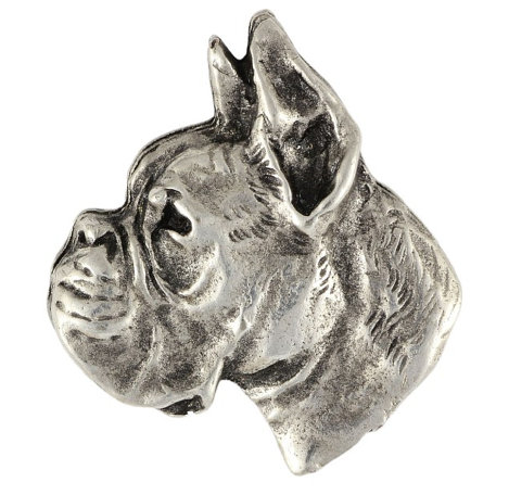 Boxer Silver Plated Lapel Pin