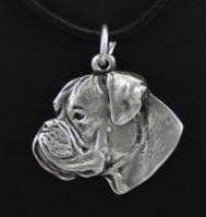 Boxer Sliver Plated Pendant Naturual Ears