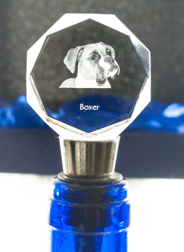 Boxer Cystal Wine Stopper Natural Ears