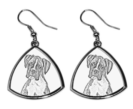 Boxer Silver Plated Earrings Natural Ears