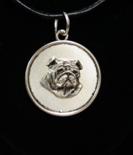 Bristish Bulldog Silver Plated Pendant