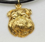 Brussels Griffon Hard Gold Plated Pendant