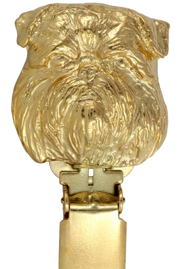 Brussels Griffon Hard Gold Plated Show Clip