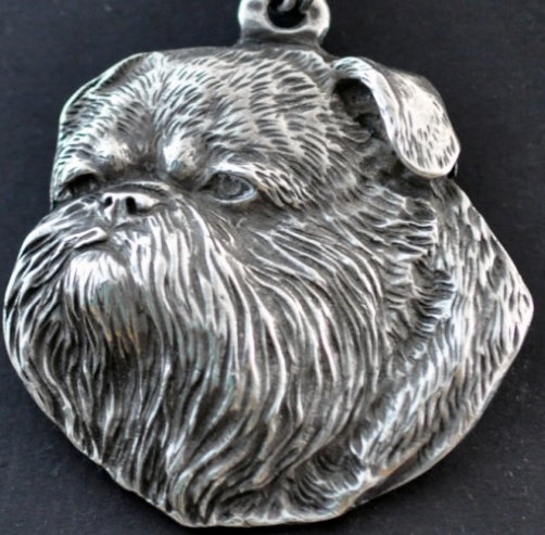 Brussels Griffon Silver Plated Pendant
