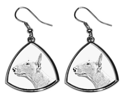 Bull Terrier Silver Plated Earrings