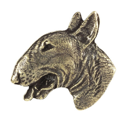 Bull Terrier Silver Plated Lapel Pin