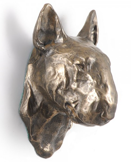 Bull Terrier Wall Hung Statue