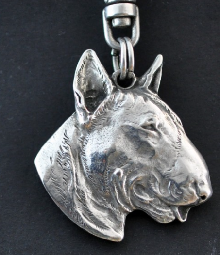 Bull Terrier Silver Plated Key Chain
