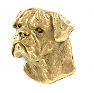 Bullmastiff Hard Gold Plated Lapel Pin