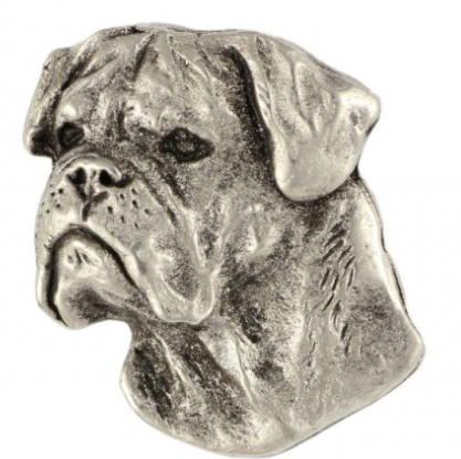 Bullmastiff Silver Plated Lapel Pin