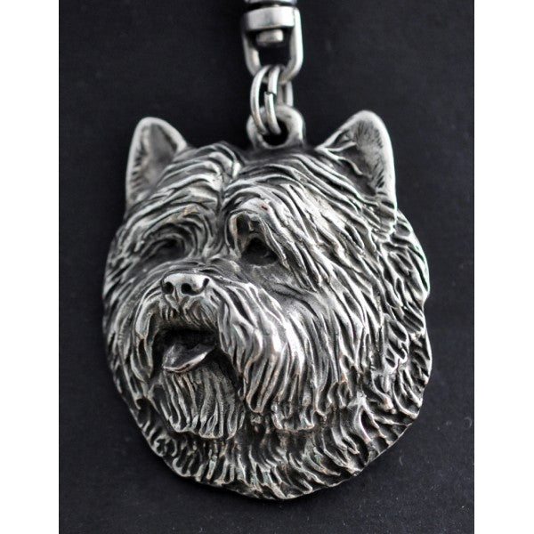 Cairn Terrier Silver Plated Key Chain