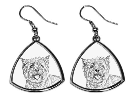 Cairn Terrier Silver Plated Earrings