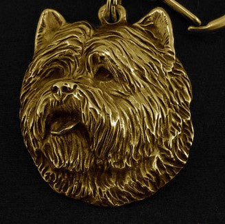 Cairn Terrier Hard Gold Plated Key Chain