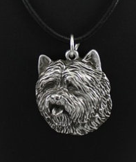 Cairn Terrier Silver Plated Pendant