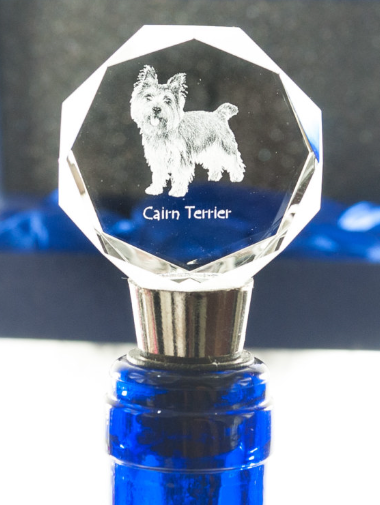 Cairn Terrier Crystal Wine Stopper