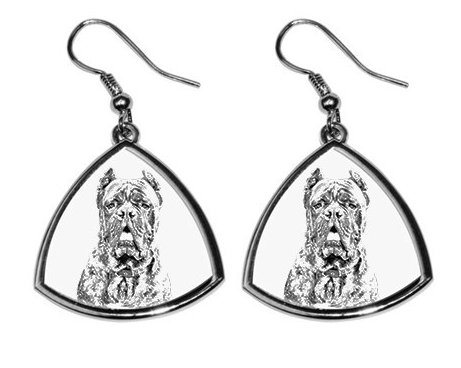 Cane Corso Silver Plated Earrings