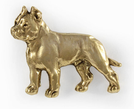 Cane Corso / Italian Mastiff Hard Gold Plated Lapel Pin