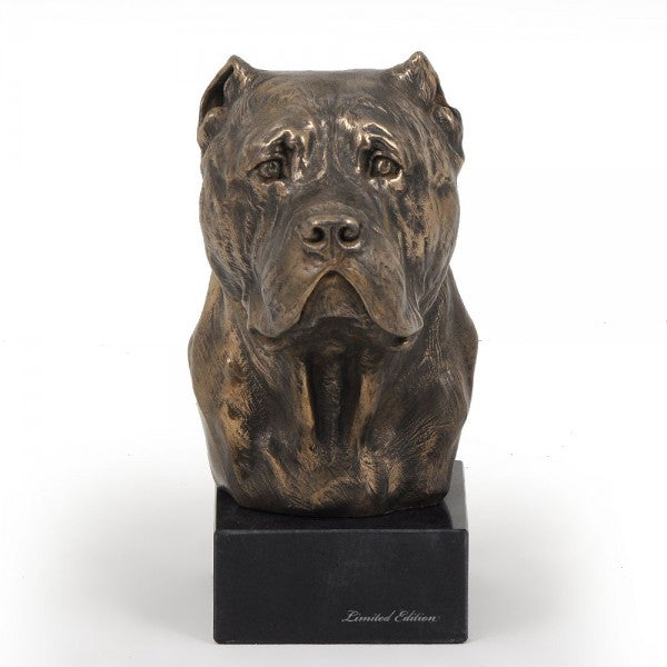 Cane Corso / Italian Mastiff Statue on a Marble Base
