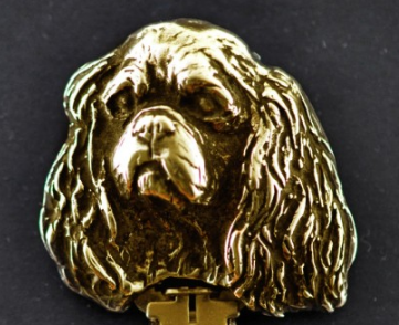Cavalier King Charles Hard Gold Plated Key Chain