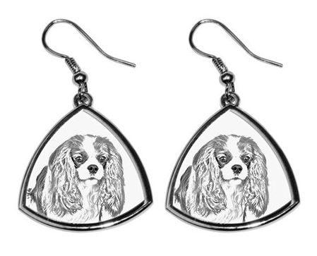 Cavalier King Charles Silver Plated earrings