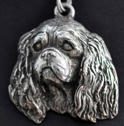 Cavalier King Charles Spaniel Silver Plated Key Chain