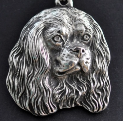 Cavalier King Charles Silver Plated Key Chain
