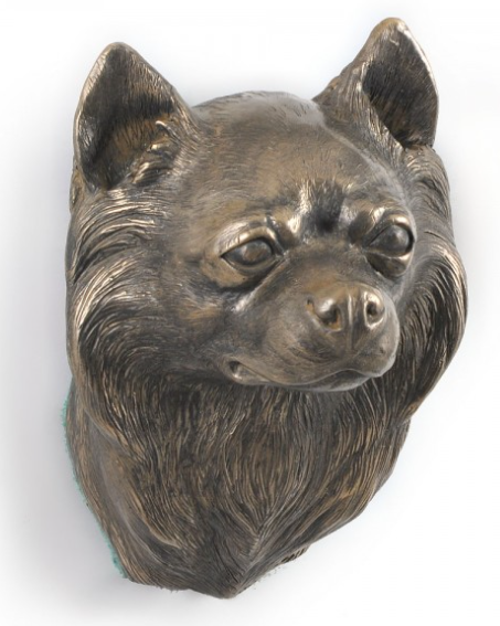 Chihuahua Long Coat Wall Hung Statue