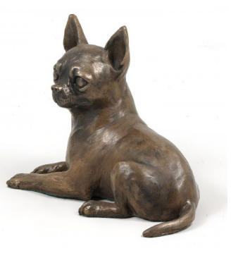 Chihuahua Statue Laying Down