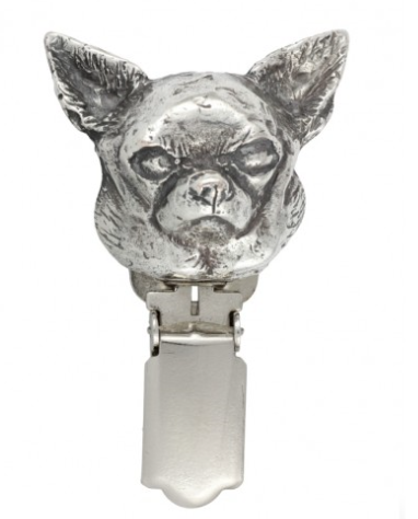 Chihuahua Smooth Coat Silver Plated Show Clip