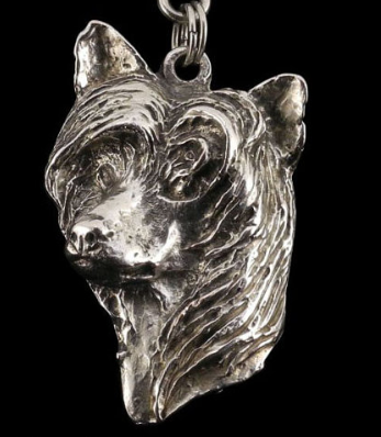 Chinese Crested Dog Silver Plated Pendant