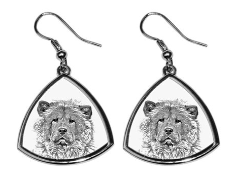 Chow Chow Silver Plated Earrings