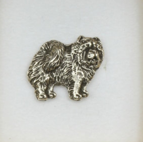 Chow Chow Silver Plated Lapel Pin