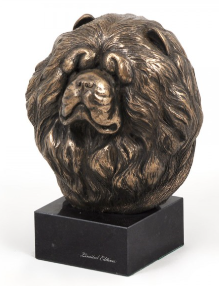 Chow Chow Statue on a Marble Base